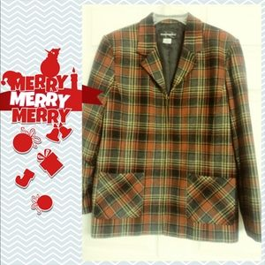 Requirements red plaid jacket